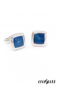 Hranaté manžetové gombíky modré