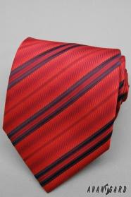 Červená prúžkovaná kravata