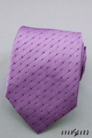 Fialová kravata s jemnými bodkami
