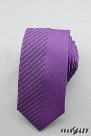 Pánska kravata fialová půlená
