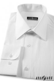 Prúžkovaná pánska košeľa biela 80% bavlna