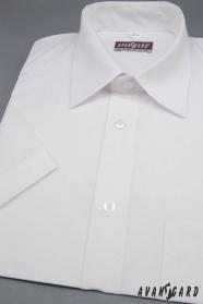 Pánska košeľa Klasik s krátkym rukávom - Biela