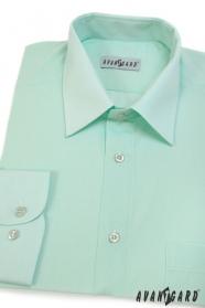 Pánska košeľa Klasik dlhý rukáv - Zelenkavá