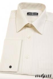 Pánska košeľa Klasik na manžetové gombíky - Smotanová