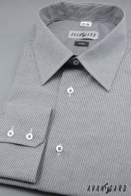 Pánska košeľa slim s dlhým rukávom - Šedá