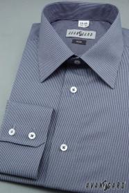 Pánska košeľa SLIM modrá biela prúžkovaná - výpredaj