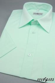 Pánska košeľa  krátky rukáv - Zelenkavá