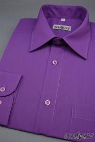 Pánska košeľa tmavo fialová