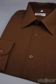 Pánska košeľa  tmavo hnedá