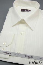 Pánska košeľa  dlhý rukáv - Smotanová