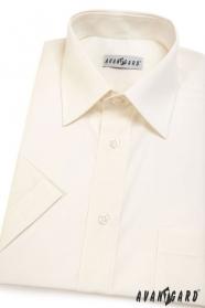 Pánska košeľa  s krátkym rukávom - Smotanová