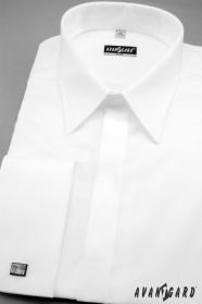 Pánska košeľa SLIM hladká s leskom - výpredaj