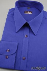 Pánska košeľa SLIM s dlhým rukávom - Kráľovská modrá výpredaj