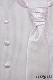 Svadobná vesta s viazankou a vreckovkou biela vel. 54