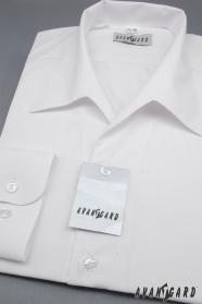 Košeľa s rozhalenkou s dlhým rukávom biela výpredaj