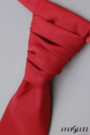 Francúzska kravata s vreckovkou bordó hladká