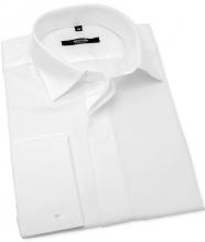 Biela svadobná košeľa na manžetové gombíky ANREDE