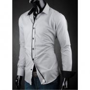 Pánska košeľa Victorio - Svetlo šedá