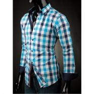 Pánska košeľa Victorio - Modrá kocka