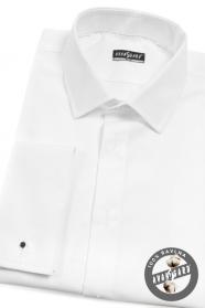 Pánska Smokingové košeľa SLIM biela predĺžená veľkosť