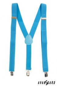 Tyrkysové traky Y s modrou kožou na kovové klipy