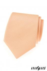 Štruktúrovaná kravata LUX lososovej farby