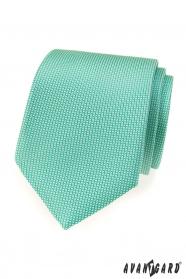 Mintfarbene LUX Herren-Krawatte mit feinem Muster