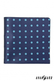 Modrá štruktúrovaná vreckovka so svetlou bodkou