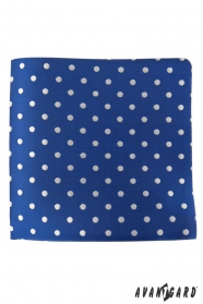 Modrá vreckovka so striebornými bodkami