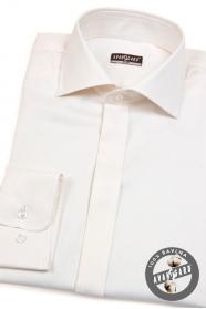 Pánska bavlnená košeľa SLIM smotanová