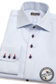 Modrá košeľa SLIM s farebnými doplnkami