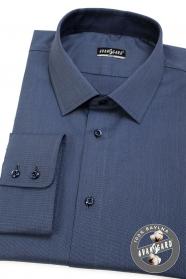Modrá košeľa SLIM dlhý rukáv, modré gombíky