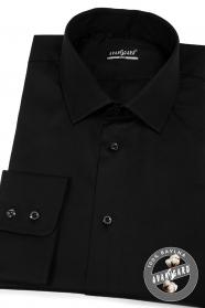 Čierna pánska košeľa SLIM z bavlny
