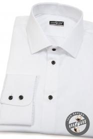 Biela pánska košeľa SLIM bavlna zo 100% bavlny