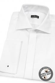Pánska košeľa SLIM na MG mäkká bavlna - Biela