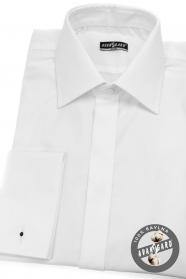 Pánska košeľa SLIM - krytá léga, MG - Biela