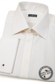 Pánska košeľa SLIM krytá léga na MG - Béžová