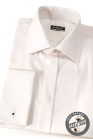 Pánska košeľa SLIM - krytá léga, MG - Smotanová