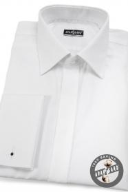 Biela preštíhlená košeľa SLIM krytá lega 100% bavlna