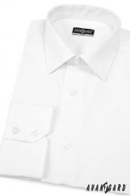Pánska košeľa SLIM - Biela jednoduchá