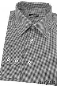 Pánska košeľa SLIM čierna z jemnou kockou