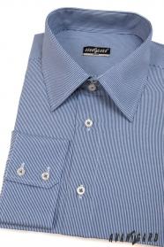 Pánska košeľa SLIM s modrobielymi prúžkami