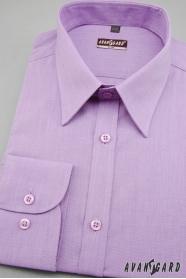 Pánska košeľa SLIM s dlhým rukávom - Fialová