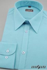 Pánska košeľa SLIM tyrkysová jemná štruktúra