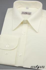 Pánska košeľa SLIM smotanová 80% bavlna
