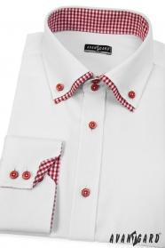 Biela pánska košeľa SLIM s dlhým rukávom