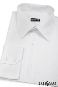 Pánska košeľa SLIM biela s jednoduchými prúžkami