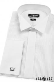 Fraková košeľa SLIM MG biela plisovaná