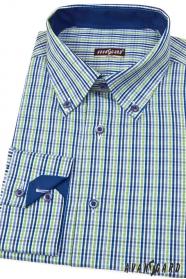 Pánska košeľa SLIM modrozelená kocka