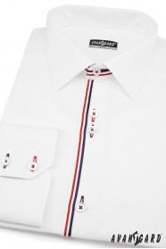 Pánska košeľa SLIM dlhý rukáv - Biela
